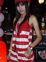 Walking Street Pattaya candid Thai girl mix