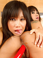 Hot lesbian action with Kanda and Nicha