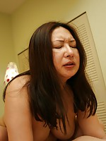 Japanese woman Miyoko Nagase wants some hard cock and to feel a warm creampie inside her.