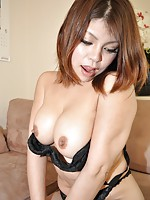 Japanese MILF Seiko Kawamoto is eager for cock inside her wet hooch.