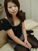 Cougar Japanese Mami Isoyama getting penetrated with vibrators and hard cocks.
