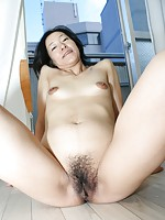 Japanese granny Aya Sakuma sucks cock and gets her pussy teased before riding a hard cock.