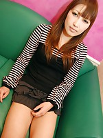 Japanese teen Orie Okano is tease with vibrators before she ride this hard dick.