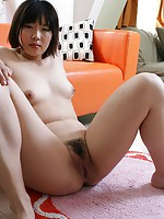 Teen Japanese babe Kasumi Miyata gets her pussy drilled and receives a creampie.