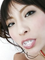 Rika Sonohara Asian with cans in ropes has hairy pussy licked