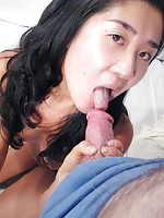 Teenage girl giving head and having to swallow a huge load of cum