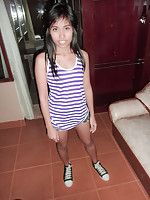 Adorable Phuket teen Toon licks ass wearing her Converse shoes