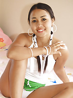 Joon Mali pulls her panties into her soft puffy Thai pussy