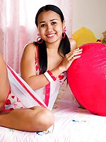 Barely legal Asian teen Joon Mali in sexy Babydoll lingerie