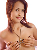 Lily Koh covers her small Thai boobies with her tiny hands