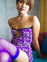 Darling Thai Lily Koh flashes titties and cotton panties