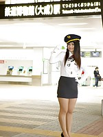 Nonami Takizawa Asian with generous boobs is sexy air hostess