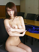 Sakura Kokomi Asian with specs arouses her big tits and shows ass