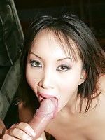 Nasty Katsumi sucking big cock