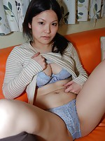 Mature Japanese Kumiko Matsuo moans in joy as she rides a hard dick up and down.