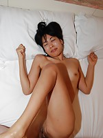 Japanese babe Hikaru Sugawara gets her pussy teased with sex toys before a cock goes in.