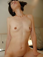 Mature Japanese babe Yukie Matsui gets her pussy leaking as sex toys and hard dick penetrates her.
