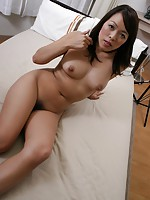 Horny mature babe Tomomi Kitano stuffed her pussy with sex toys before her man