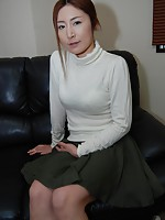 Japanese MILF beauty Chiho Sakurai takes a dick in her pussy to satisfy her sexual hunger.
