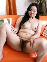 Horny MILF Japanese Takako Nishazawa moans in excitement as sex toys and hard cock pleasures her pussy.