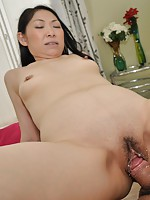 Mature Japanese babe Yumiko Morisaki wants her wet pussy pleasured by sex toys and hard cock.