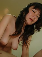 Japanese MILF Miyuki Miyaji gets her pussy drilled and receives a creampie.