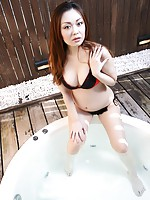 Mature Japanese babe Yuki Omura shivers in excitement as hard cocks slides in and out her pussy.