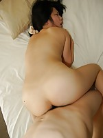 Teen Japanese babe Natsumi Haga gives her lover a nice blowjob before she stuffed it into her wet pussy.