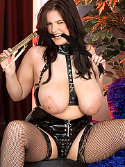 Deborah plays the dominatrix