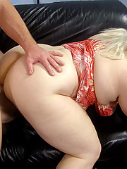 Blonde plumper Tina Rose is admitted to her first time fucking on camera with a very young stud to plow her juicy wet pussy