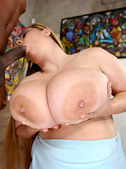 April take his huge cock in her mouth and then get fucked silly by him.