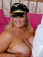Kirsten Halborg flight attendent of British Tit Airways is ready to give you one of the best dick suckings of a life time.