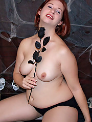 Little fat witch starring in a dirty fetish scene