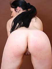 Cock-hungry fatty busted playing with her snatch