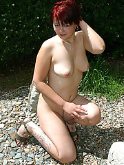Little chubby Snow White spreads her shaven pussy