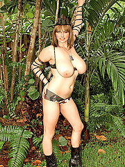 Massive boobs in camouflage