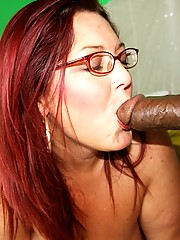 Peaches didn't mind and always has had a preference towards extremely large cocks on black guys, and she was more than happy to deep throat them both before letting one hump her ass which trembled with each ball slap.