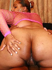 Chubby Black Amateur Bouncing on Dick