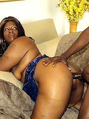 Big Beautiful Black Babe Riding Dick