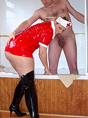 Nurse Daniella treats her patient