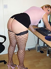 Big ass secretary in the office