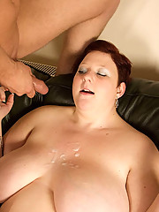 Carly is one cute and sexy BBW. Gifted in the art of deep throating, she loves having her 34J titties grabbed hard while choking back on some random dude's shaft. There's something almost innocent and sweet about the moans she utters as her puss