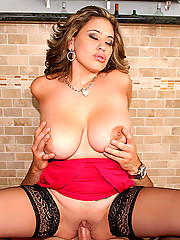 Gorgeous big natural titty babe selena castro gets her plump tits fucked and pussy rammed hard in these cumfaced pics