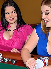Sierra and her big tits girl share a hard dong in these poker table fucking adventures