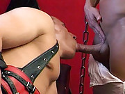 Stud in leather being fucked