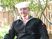 Sexy sailor jack off in here