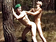 Hot army guys fucking outdoor