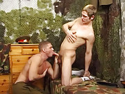 2 hot soldiers in anal action