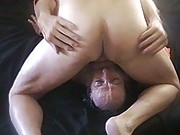 Mature guys have a threesome suck fest