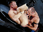 A fine piece of fetish fantasy with two leather clad beefcakes, Will Clark and Tony Scalia team-up for some fantastic nipple and toy play that